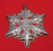 Gorham Annual Snowflake Ornament 1991