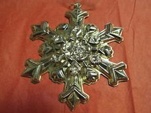 Gorham Annual Snowflake Ornament 1995