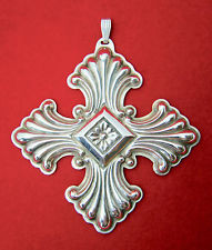 Reed & Barton Annual Cross Ornament 1973