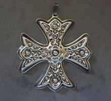 Reed & Barton Annual Cross Ornament 1975