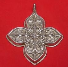 Reed & Barton Annual Cross Ornament 1984