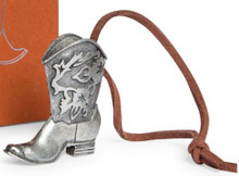 Danforth Cowboy Boot Ornament - Dusty Rose
