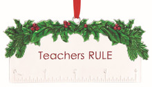 Lenox Silver Teachers Rule Ornament