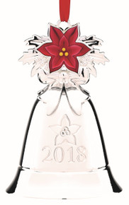 Lenox Silver Annual Musical Bell Ornament 2018