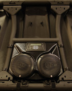 "Front stereo system with 6.5"" Rockford Fosgate speakers"