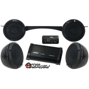 Drive Unlimited's ODES Dominator X2 & X4  Stereo System with 500W Bluetooth AMP