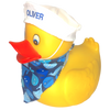 Jumbo Large floating rubber duck with custom embroidered sailors cap | Ducks in the Window
