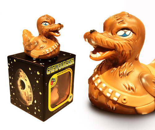 Chequaker Rubber Duck from the Pond Wars Series LED Lights glow-in-the-dark (Star Wars Fans, and Chewbacca)