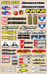 Decal kit N-Style Large Logo Sticker kit Off-Road Decal kit N-Style Large Sticker N30-187