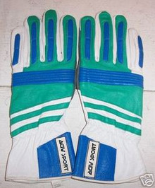 Motorcycle Gloves AGV RX2 White/Green/Blue (Medium)