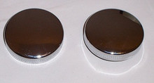 Harley Chrome fatbob Gas Cap set