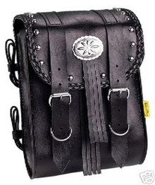 Willie & Max Sissy Bar Bag Studded/Braided Warrior New