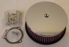 "Harley 5-7/8"" HP round High-performance Air Cleaner Chrome Smooth design New"
