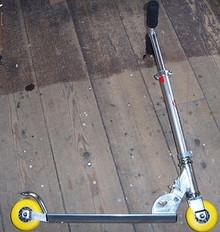 Manual Push Scooter City Speeder Yellow Wheels