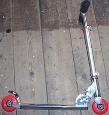 Manual Push Scooter City Speeder Red Wheels