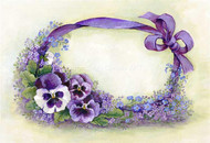 Purple Pansy Ribbon border