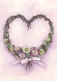 Pink ribbon heart