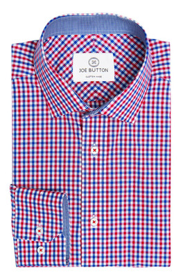 Brooklyn Red and Blue Small Gingham