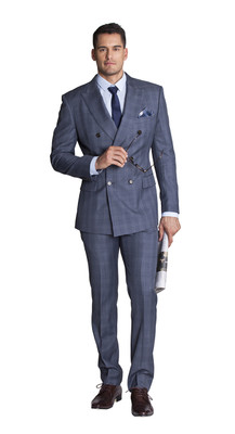 THE BLUE CHECK DOUBLE-BREASTED SUIT