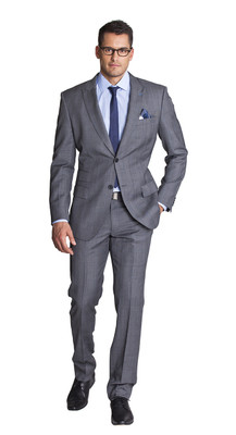 THE GREY WITH BLUE CHECK TWO PIECE SUIT