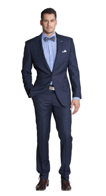 THE BLUE MULTI CHECK TWO PIECE SUIT