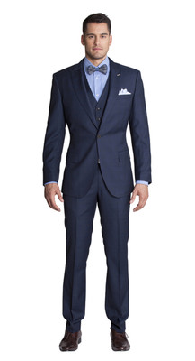 THE BLUE MULTI CHECK THREE PIECE SUIT