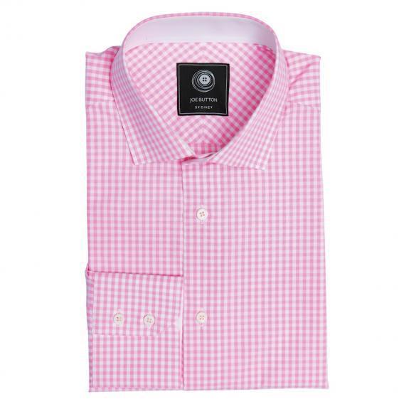 The pink gingham shirt women joe button for Pink gingham shirt ladies