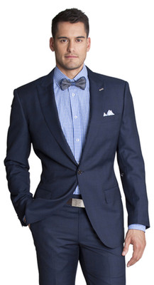 THE BLUE MULTI CHECK BLAZER