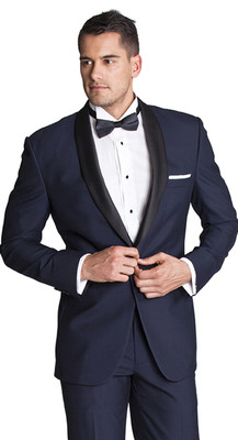 THE DARK NAVY TUXEDO BLAZER