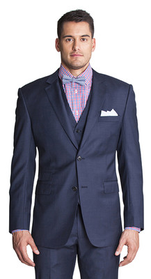 THE NAVY SHARKSKIN BLAZER