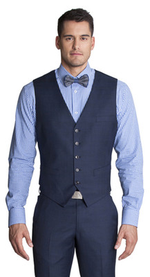 THE BLUE MULTI CHECK VEST