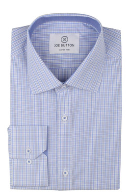 Ruben Light Blue Check Poplin
