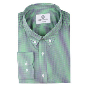 The Green & Navy Mini Check Shirt