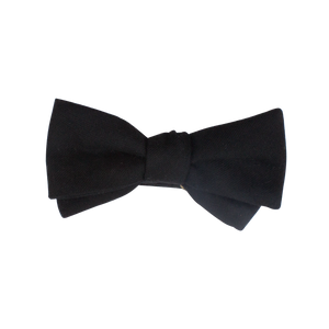 THE BLACK WOOL BOW TIE (SELF-TIE)