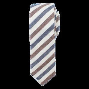 The Navy & Brown Stripe Tie