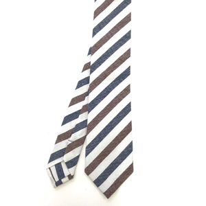 The Navy & Brown Stripe Tie