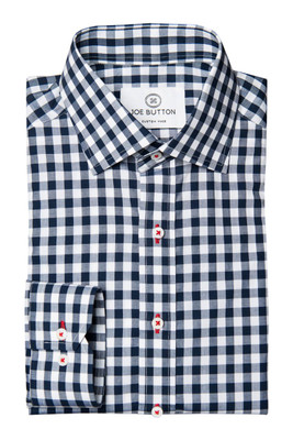 Hudson Navy Large Gingham