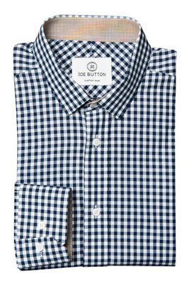 Archer Navy Medium Gingham