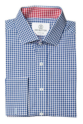 Brooklyn Dark Blue Small Gingham