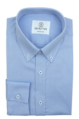 Rufus Blue Pinpoint Oxford