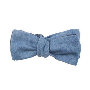 BLUE DENIM BOW TIE (SELF-TIE)