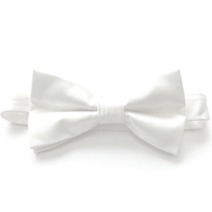 White Woven Bow Tie (PRE-TIED)