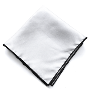 Grey Silk Pocket Square