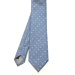Blue with Gold Polka Dot Tie