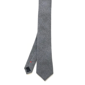 Skinny Grey Wool Tie