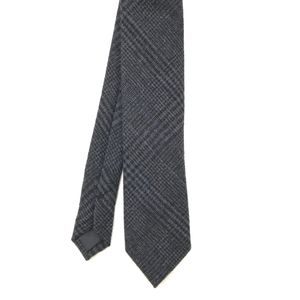 Grey Check Wool Tie