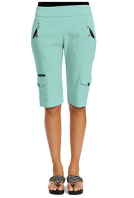 "71346 - Mermaid with Silver Trims Knee Capri - 24.5"" SKINNYLISCIOUS"