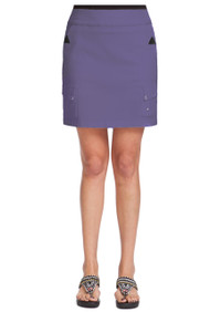 "71347 -Aubergine with Silver Trims Skort - 18"" SKINNYLISCIOUS"