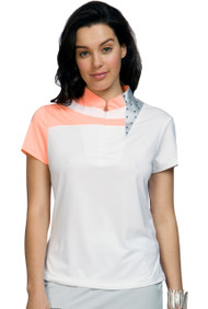 81118 - Metal Print in Passion - Short Sleeve Polo