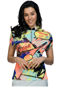 81129 - Never Tamed Print Crunched in Passion  - Short Sleeves Polo